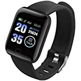 SHOPTOSHOP Smart Band Fitness Tracker Watch Heart Rate with Activity Tracker Waterproof Body Functions Like Steps Counter, Ca
