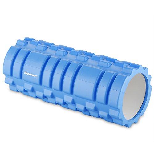 Excelvan - Rodillo de Espuma EVA para Yoga (Entrenamiento, Gimnasio, Pilates Ejercicio, Automasaje, Trigger Point, D 33x L 14 cm), Azul