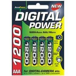 AccuPower AP1200-4 Ni-MH AAA/Micro/LR03 Akku (1200mAh, 4-er Pack)