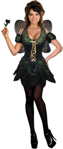 Dreamgirls Dark Fairy Kostüm M Kleid Gr. 8-10 (Dark Fairy Fancy Dress Kostüm)
