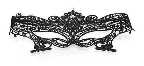 Da.Wa Schwarze Spitze Reizvolle Maske,Venezianische Karneval (Morph Schwarz Maske)