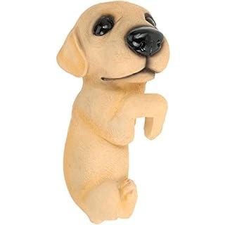 AiO-S - OK Blumentopfaufhänger Zierfigur Blumentopf Zaun Hund Dekofigur Labrador 25 cm