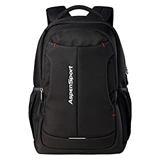 Aspen AS-B26 Laptop Backpack 15.6 Inch Travel Business Protective Computer Rucksack Water Resistant School Bag for Men and Women 30L(Black)