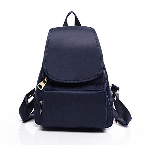 ZY&F Borsa a tracolla in nylon impermeabile portatile Signorina zaino Borse a tracolla Zaino studente , black Blue