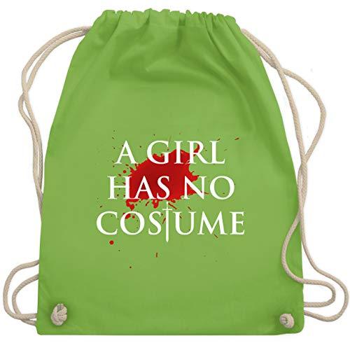 Karneval & Fasching - A Girl Has No Costume Kostüm - Unisize - Hellgrün - WM110 - Turnbeutel & Gym - Bff Girl Kostüm