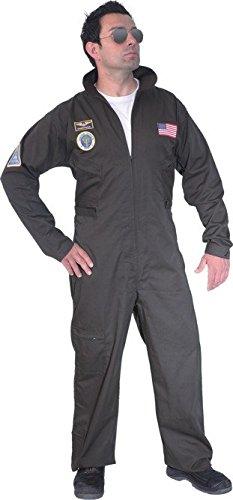 Faschingskostüm Herren Jet-Pilot (Overall)