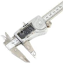 Pied à Coulisse Preciva Professionnel Numérique Caliper Pied à Coulisse de 150mm Précision Digital en Acier Inoxydable Outil Micromètre Vernier avec Ecran d'affichage LCD Résiste aux Eclaboussures à l