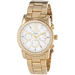 Invicta 11771 Women's Angel White MOP Dial Gold Plated Stainless Steel Watch