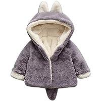 Youarebb Baby Kleidung, Baby Mädchen Herbst und Winter Kapuzenjacke dicken Mantel Kleidung 0-36 Monate