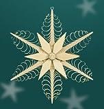 Spanstern Stern Fensterschmuck 23 cm im Mittelteil Holzstern mit Rosette Erzgebirge NEU