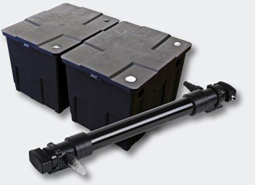 Sunsun 2 camere filtro set per 60000l stagno con 72 w uvc for Teli per stagni