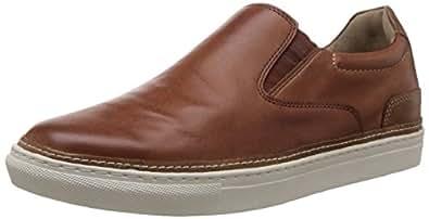 Hush Puppies Men's Tucker Nicholas Tan and Light Brown Leather Formal Shoes - 11 UK/India (45 EU)(8543945)