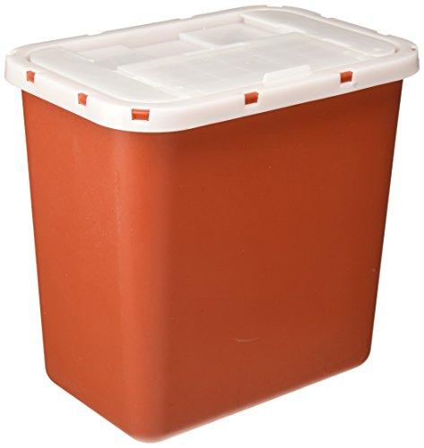 Medline Biohazard Multipurpose Sharps Containers, Red, 8.000 by Medline - Red Sharps Container