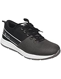 AVIVO Men's Grey And Black Casual/Running Sports Shoes