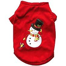 Amakunft Pajamas de Navidad para Perros, Lindo muñeco de Nieve, Ropa de Vacaciones de