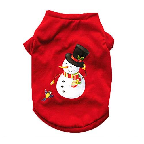 Jedi Kostüm Hunde - Amakunft Weihnachten Schneemann Pet Hunde Schlafanzüge, Urlaub Kleidung Santa Claus Rudolph Overall mit Roten Streifen