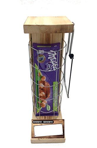 Personalisierbar mit Ihrem Wunschtext - Milka Haselnuss Alpenmilch, Tafelschokolade, 300g - Eiserne Reserve incl. Bügelsäge Das ausgefallene originelle lustige personalisierbare Geschenk (Valentinstag Schokolade Für Lehrer)
