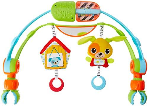 Tiny Love Cagnolino Spin N'Kick Discovery Arch Arco Giochi per Passeggino, Culla e Ovetto, con Aggancio Universale, Multicolore