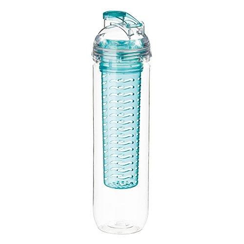 Melianda MA-7200 leichte Trinkflasche mit Fruit Infuser für trendige Fruchtschorlen, 800 ml, BPA-freiem Tritan, Sportler & Freizeitflasche, Blau