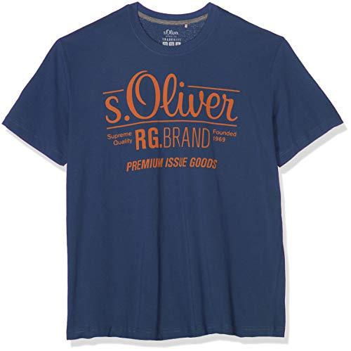 s.Oliver Big Size Herren T-Shirt 15.809.32.3953, Blau (Dark Saphire Blue 5725), 5XL