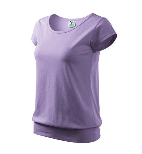 Dress-O-Mat Damen T-Shirt Shirt rundhals Bund lavandel lila