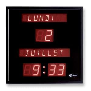 Orium 11561 Horloge à date digitale Plastique/Verre Noir 28 x 28 x 4,2 cm