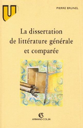 La dissertation de littérature générale et comparée