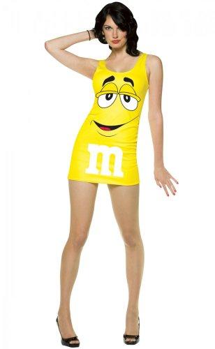 OSTÜM für Damen Gr. M/L, Farbvariante:Gelb (Halloween Candy Kostüme)