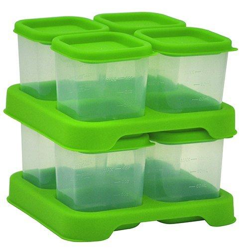 Green Sprouts 185304-560-25 Polypropylen Aufbewahrungssystem für Babynahrung 8- teiliger Set  118 ml, grün