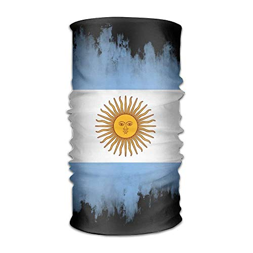 Unisex Stylish Flag of Argentina Quick Dry Microfiber Headwear Outdoor Magic Bandana Neck Gaiter Head Wrap Headband Scarf Face Mask Ultra Soft Elastic Handscarf Fashion7