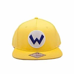 Super Mario sb092401ntn Nintendo Wario Logo Gorra Ajustable (Talla única)