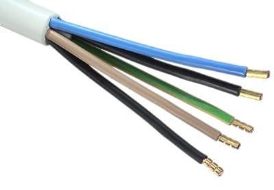 Herdanschlussleitung H05VV-F 5G2 5 mm² 5m hitzebeständig von intertec bei Lampenhans.de