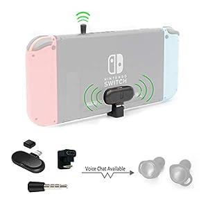 [Route + PRO] Kabelloser Audio-Adapter Bluetooth-Sender-Adapter Kompatibel mit Nintendo Switch und PC, MIC-Unterstützung, mit U-Anschluss, passend für AirPods, Echo, kabellose Gaming-Kopfhörer usw.