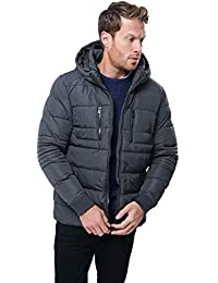Threadbare Mens Winter Puffer Jacket Padded Hooded Zip up Coat 226b4079dc