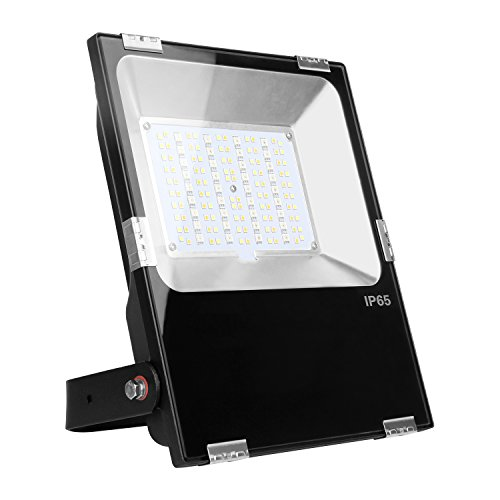 LIGHTEU®, 1 Stück Milight WLAN LED Lampe original 50W Color RGB+CCT,dimmbar,Farbwechsel Gartenleuchte,Außenstrahler Fluter Flutlicht,IP65,ohne Fernbedienung, futt02 (Wlan-zyklus)