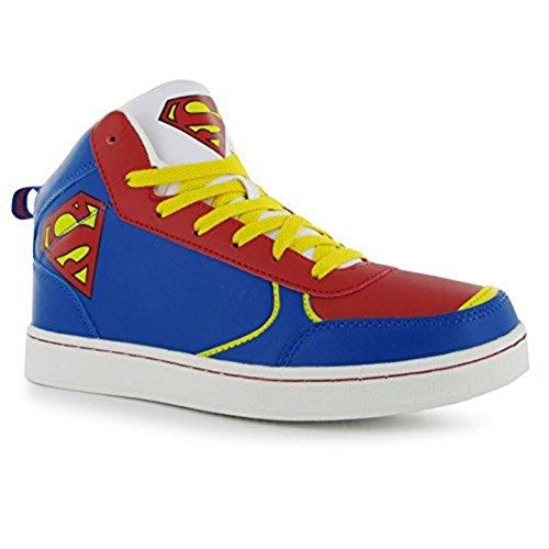 DC Comics Superman Herren Turnschuhe High Top Sneaker Freizeit Ankle Schuhe (- Herren-high-top-schuhe Dc -)