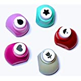 Must Visit Useful DIY Art and Craft Round,Star,Flower and Heart Shape Paper Punch Accessory Set of 5