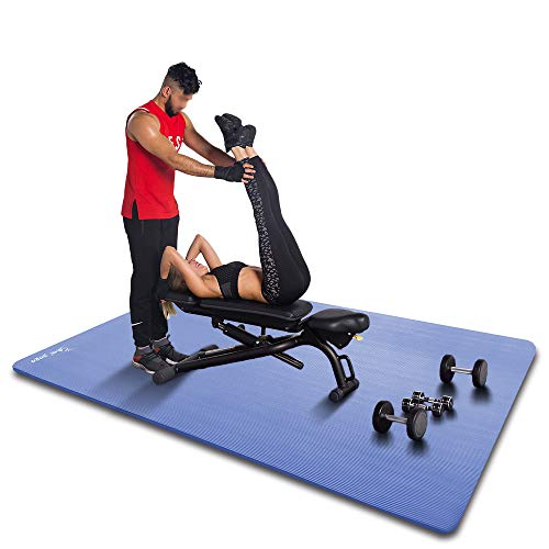 YUREN Doppelte Yogamatte 200 x 135 cm Ultra Dicke Yoga Matte 2cm Extra Gros und Breit Gymnastikmatte Übergröße Ftness Matte Ubungsmatte Weich Yogamatte XL