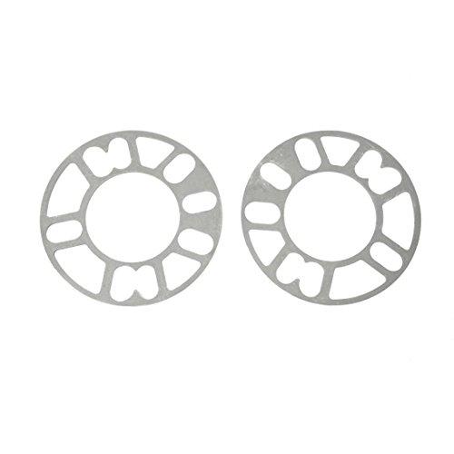 SODIAL(R) 2 Pz lega di alluminio 4 e 5 Lug 5 mm Distanziali Guarnizione per veicolo Auto