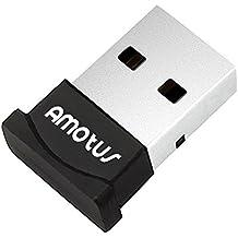 Adaptador de Bluetooth, del adaptador USB inalámbrico Bluetooth 4.0 + EDR, Dongle USB para PC con Windows 10/8,1/8/7/Vista compatible con los auriculares, altavoces y el ratón Bluetooth, teclado, PS4