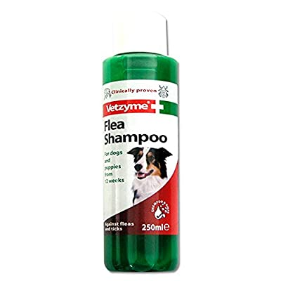 Vetzyme Flea Shampoo for Dogs and Puppies, 250 ml