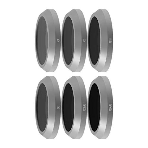 freewell Budget Kit Baureihe E-Kamera Objektiv Filter Set 6Stück ND4, ND8, ND16, CPL, ND32/PL, ND64/PL Made für verwendet mit Parrot Anafi Drone