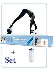 SISSEL Pilates Roller Pro - (Blau -100 cm) mit Trinkflasche als SET, für Anfänger und Fortgeschrittene **NEU**