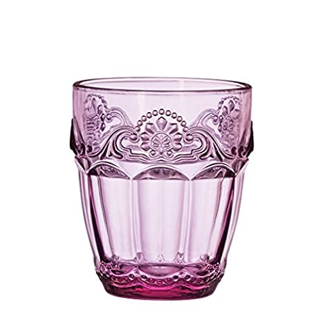 Amici Baroque Lilac Collection Double Old Fashioned Glass–Set of 4by Amici Home