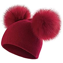 f0e9930d2c cappellino lana rosso - Amazon.it