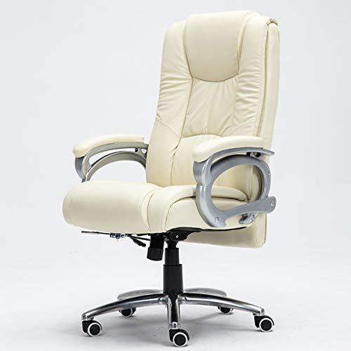 Chaises de réception Fauteuil de bureau en cuir Fauteuil de bureau en cuir Fauteuil de massage pour salle d'étude Fauteuil d'ascenseur pour salon Fauteuil noir Fauteuil Boss (Fauteuil 100% cuir de vac
