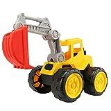 Royalr Spielzeug Cartoon Große Kinder Simulation Engineering Fahrzeuge Auto-LKW Bagger Modell Strand Auto-Kind-Lernspielzeug