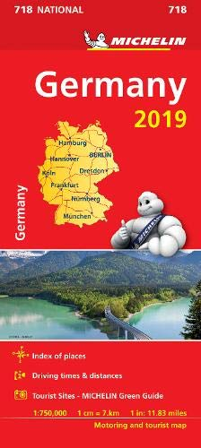 Germany 2019 - Michelin National Map 718 (Michelin National Maps) (Michelin Maps Deutschland)