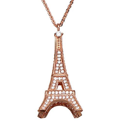 LF Elegante collana torre rosa moda ciondolo collana di inviare la sua ragazza
