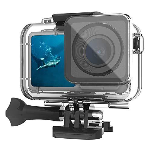 FASTSNAIL Custodia Subacquea per DJI Osmo Action, [61m] Custodia Protettiva Impermeabile per DJI Osmo Action Cam Camera Digitale - IP68 Underwater Waterproof Case